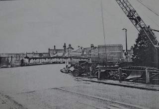 The new bridge under construction in 1964 | Hertfordshire Archives & Local Studies (Acc 6029)