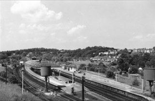 1965 - Hertford North station.