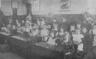 Musley School, Ware | Inside a classroom, 1912, Herts Archives Off Acc 1378