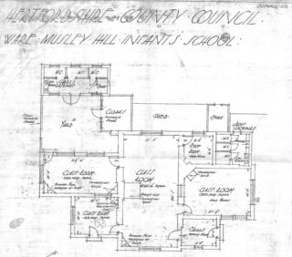Musley School, Ware | Plans c1930s, Herts Archives Off Acc 1378