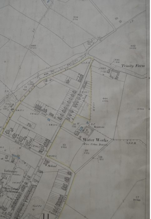OS map of Ware, 1923   Herts Archives