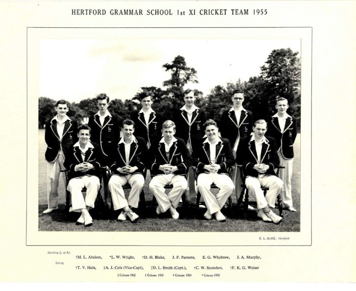 Hertford Grammar School 1st XI Cricket Team, 1955 | Richard Hale School Archive