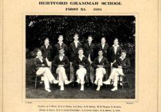 Hertford Grammar School First XI.  1931