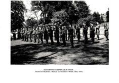 Hertford Grammar School, Guard of Honour, 'Salute the Soldier' Week, May 1944