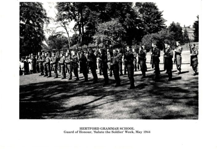 Hertford Grammar School, Guard of Honour, 'Salute the Soldier' Week, May 1944 | Richard Hale School Archive