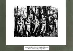 Hertford Grammar School First Fifteen  Spring 1945
