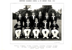Hertford Grammar School 1st XI Cricket Team, 1954
