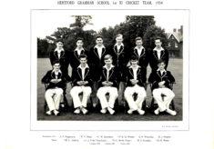 Hertford Grammar School 1st XI Cricket Team, 1954