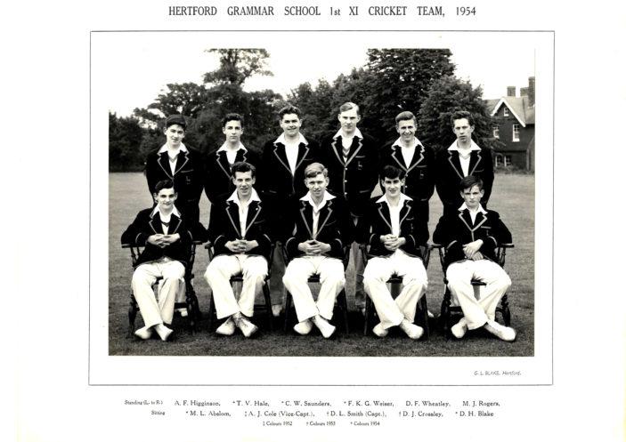 Hertford Grammar School 1st XI Cricket Team, 1954 | Richard Hale School Archive