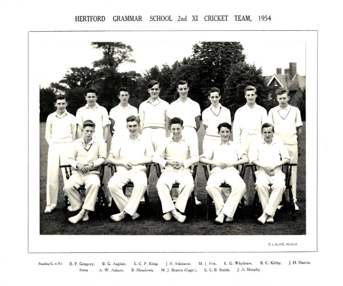 Hertford Grammar School 2nd XI Cricket Team, 1954 | ichard hale School Archive