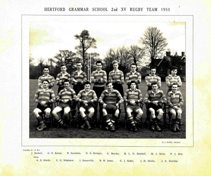 Hertford Grammar School 2nd XV Rugby Team, 1955 | Richard Hale School Archive
