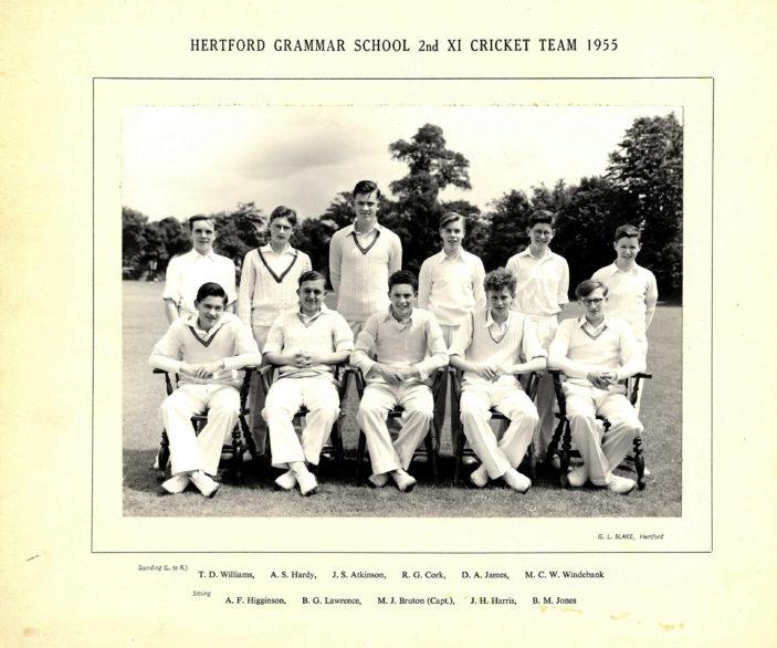Hertford Grammar School 2nd XI Cricket Team 1955 | Richard Hale School Archive