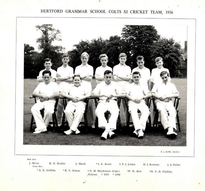 Hertford Grammar School Colts XI Cricket Team, 1956   Richard hale School Archive