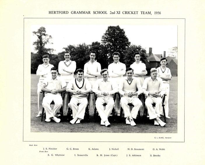 Hertford Grammar School 2nd XI Cricket Team, 1956 | Richard Hale School Archive