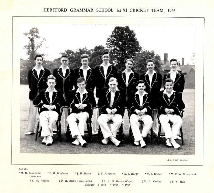 Hertford Grammar School 1st XI Cricket Team, 1956 | Richard Hale School Archive
