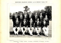 Hertford Grammar School 1st XI Cricket Team, 1957