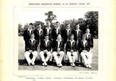 Hertford Grammar School 1st XI Cricket Team, 1957