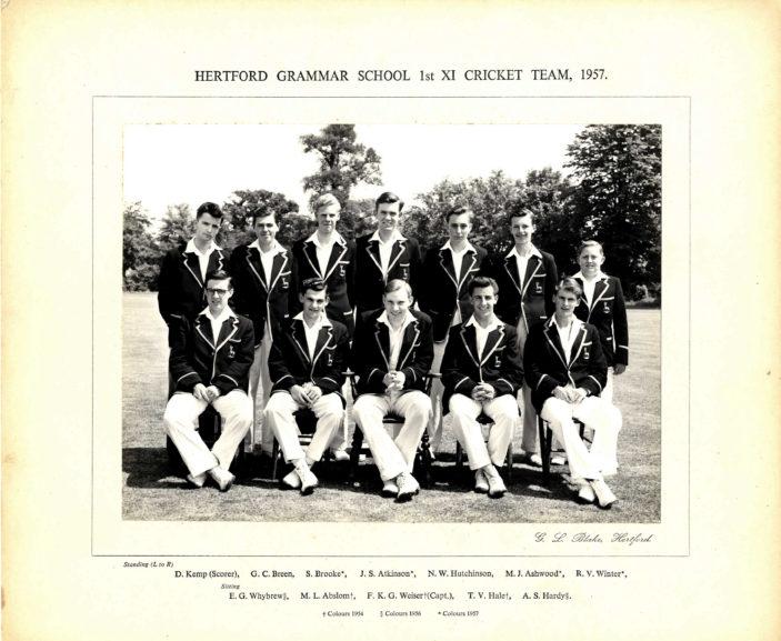 Hertford Grammar School 1st XI Cricket Team, 1957 | Richard Hale School Archive