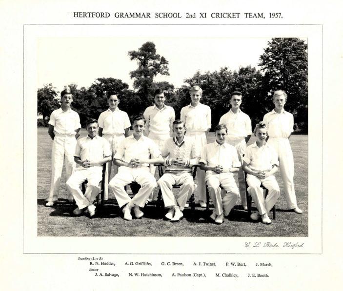 Hertford Grammar School 2nd XI Cricket Team, 1957 | Richard Hale School Archive