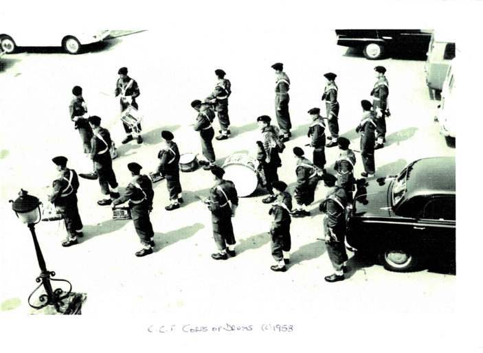 Hertford Grammar School CCF Corps of Drums, circa 1958   Richard Hale School Archive
