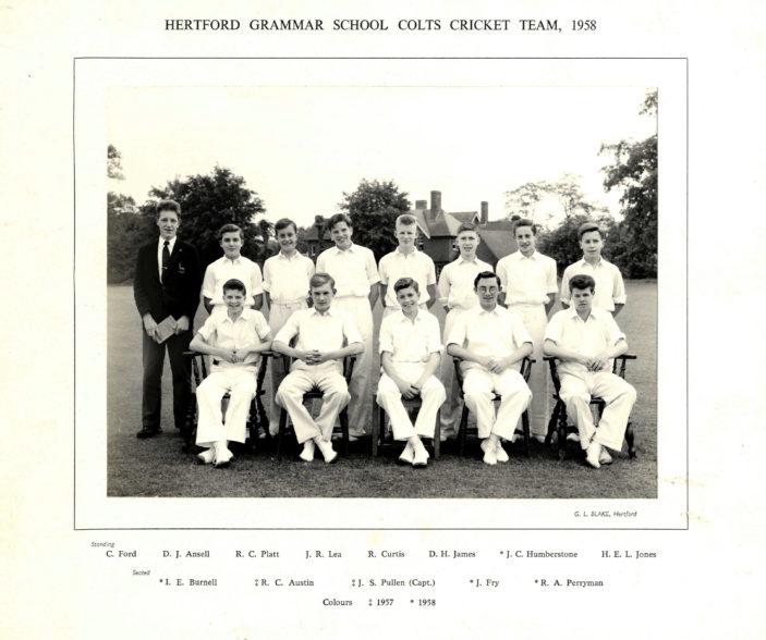 Hertford Grammar School Colts Cricket Team, 1958 | Richard Hale School Archive