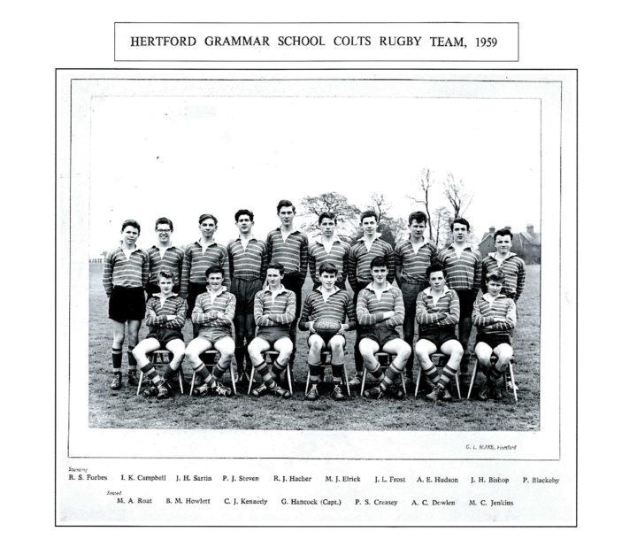 Hertford Grammar School Colts Rugby Team, 1959   Richard Hale School Archive