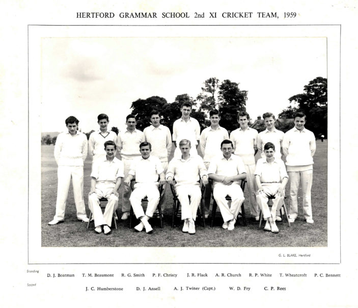 Hertford Grammar School 2nd XI Cricket Team, 1959 | Richard Hale School Archive