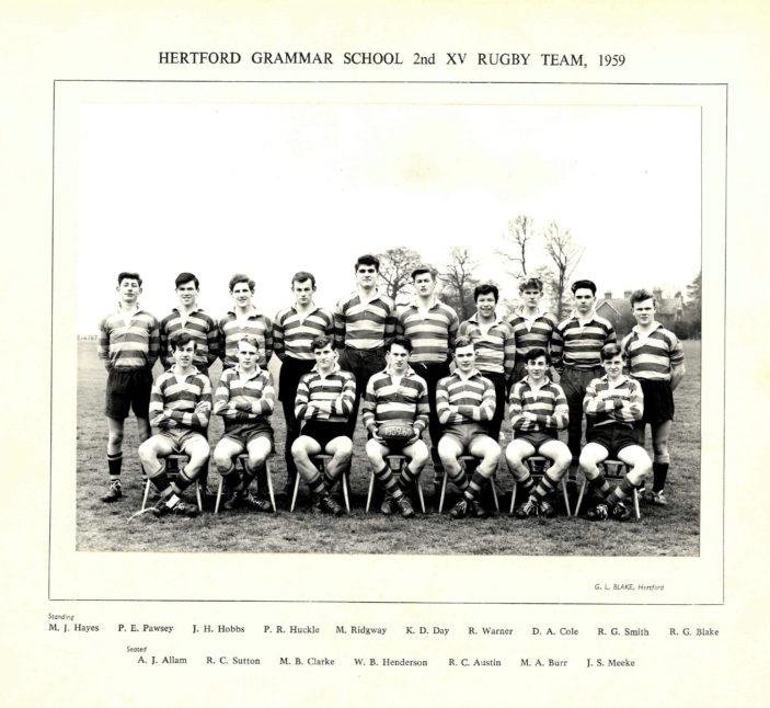 Hertford Grammar School 2nd XI Rugby Team, 1959 | Richard Hale School Archive