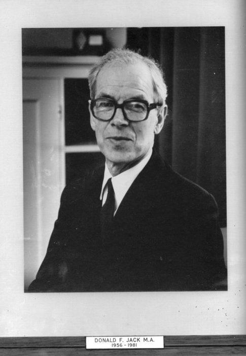 Donald F. Jack, M.A. 1956 - 1981 | Richard Hale School Archive