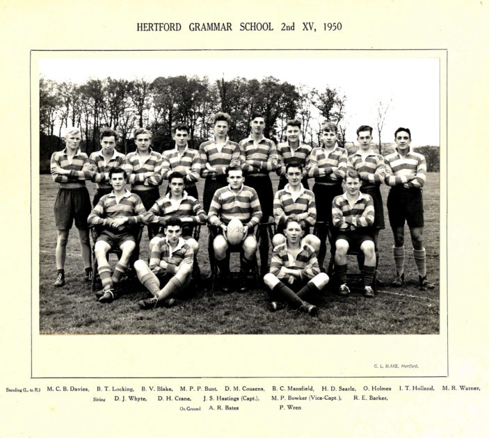 Hertford Grammar School 2nd XV, 1950 | Richard Hale School Archive