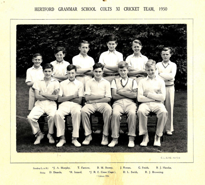 Hertford Grammar School Colts XI Cricket Team, 1950 | Richard Hale School Archive