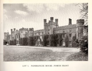 Panshanger House north front from Sale Document 1953 | Hertfordshire Archives and Local Studies