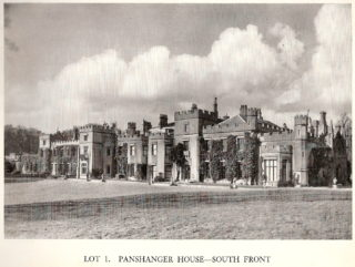 Panshanger House south front from Sale Document 1953 | Hertfordshire Archives and Local Studies