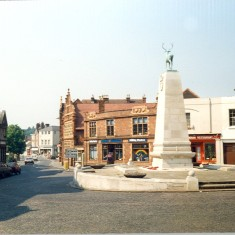 The Stag War Memorial when it was still a roundabout, Parliament Square, Hertford   Heather MacDonald