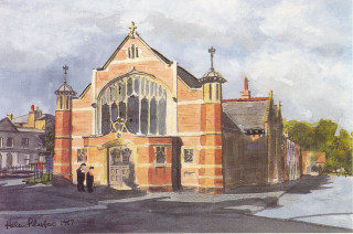 The church in 1897 | Helen Plastow reproduced by the Ministers and Deacons of Hertford Baptist church
