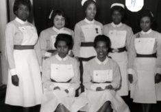 Group of seven student nurses, all unknown