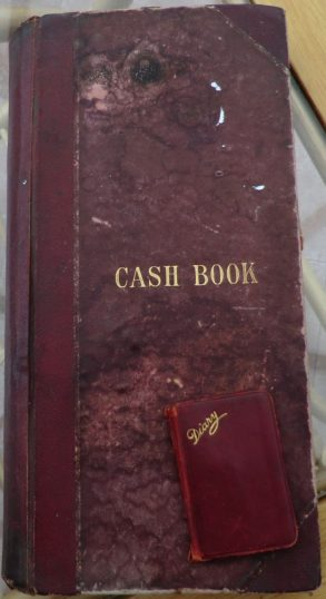 The business Cash Book from the first day of trading | Terry Askew
