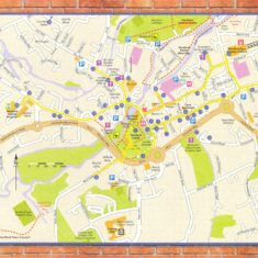 Map of the Hertford Heritage Trail | Hertford Town Council and Hertford Civic Society