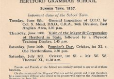 HGS Summer Term Events 1937