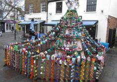 Hertford's Yarn Bombed Christmas Tree 2019