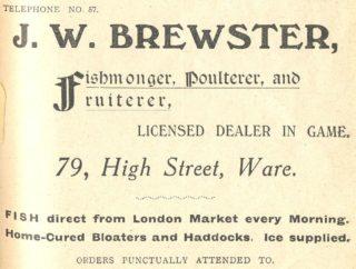 Advertisement in Ware & District Almanack 1916 (credit: Hertfordshire Archives  | Hertfordshire Archives & Local Studies