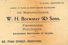 WH Brewster & Sons' Business Card | Dianne Brewster