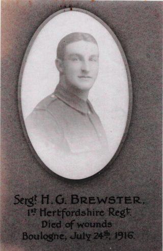 Sergeant Herbert George  Brewster | Dianne Brewster
