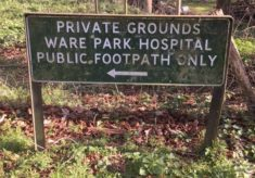 A Reminder of Ware Park's History