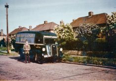 Snowdrop laundry van with driver Frank Gladding