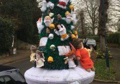 Hertford Yarn Bombers Post Box Decorations, Christmas 2020