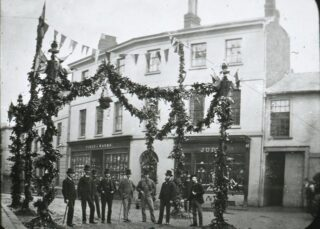 Photograph of street decorations