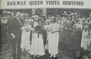 Margaret Goodall, Railway Queen, visits Hertford