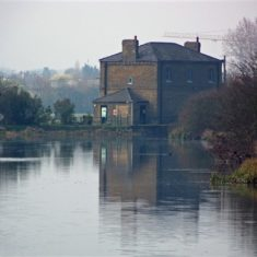 New Gauge House Intake, where water flows into the New River   by Richard Brockbank
