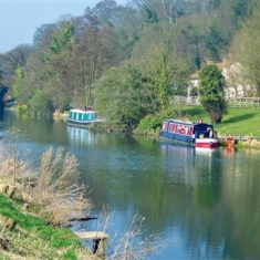 Originally built in the 18th, 19th and 20th centuries for transporting goods, modern narrowboats are used mainly for recreation, or as homes. The practice of painting them with pretty and colourful designs originated in the 19th century.   by Richard Brockbank